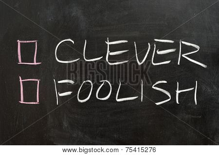 Clever Or Foolish