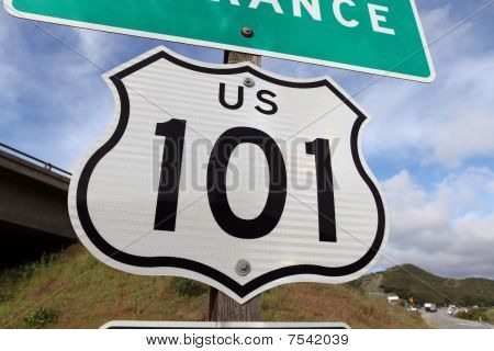 Freeway Entrance Sign Us 101