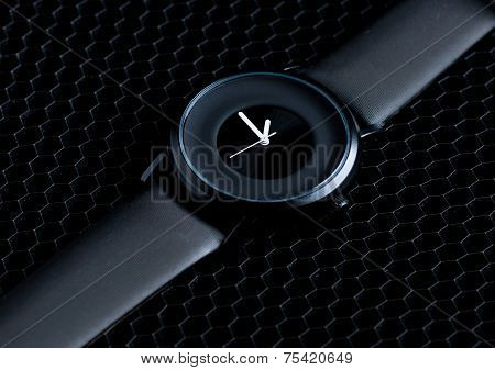 wrist watch on a dark background