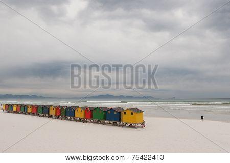 Brightly Coloured Beach Huts 4