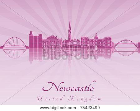 Newcastle Skyline In Purple Radiant Orchid