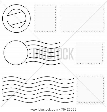 Different Stamps  Postmark Vector
