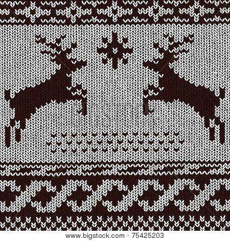 Christmas Background - Norwegian Knitting Patterns
