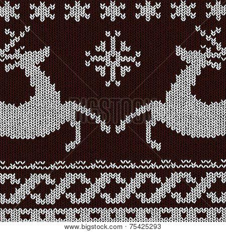 Vector Christmas Background - Norwegian Knitting Patterns