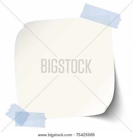 Note / Paper With Adhesive Strip