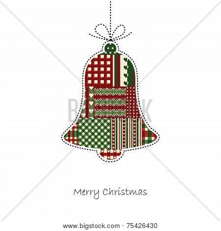 Bell - Christmas Card Vector
