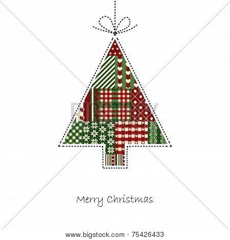 Tree - Christmas Card Vector