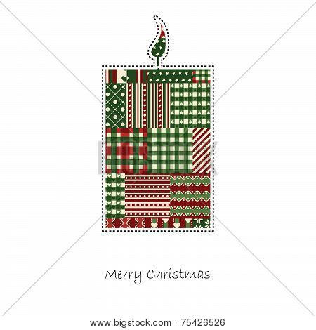 Candle - Christmas Card Vector