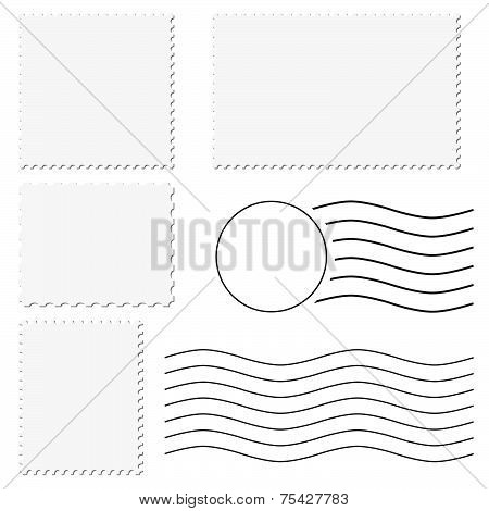 Postage Stamp + Postmark