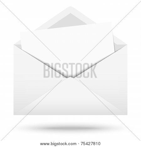 White Envelope With White Note