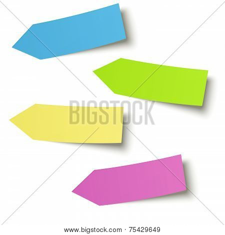 Collection - Colorful little Notes Arrow