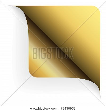 Paper - Top Corner Rounded - Gold