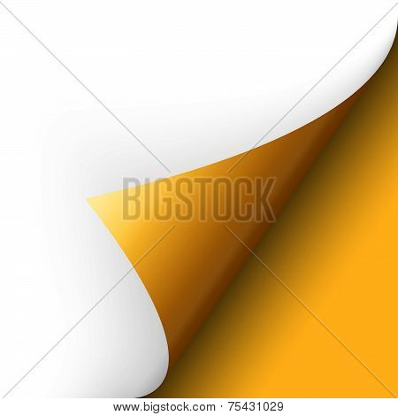 Paper - Bottom Corner - Yellow