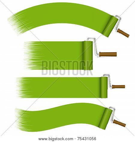 Paint Rollers Set - Green