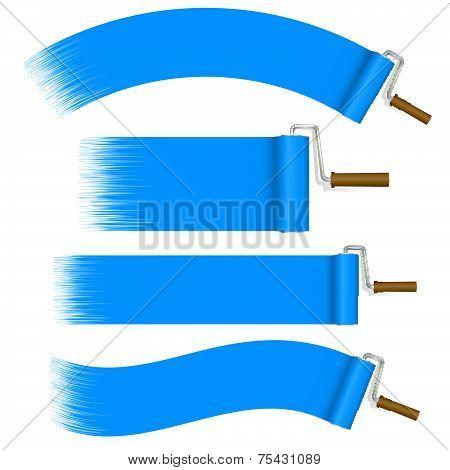 Paint Rollers Set - Blue