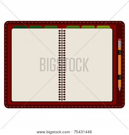 Agenda Opened With Pencil