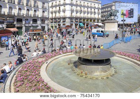 Madrid. Square Puerta Del Sol