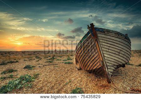 Beautiful Sunrise Over Boats
