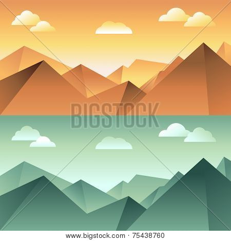 Vector Mountain Landscape