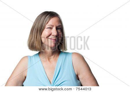 Older Woman Flirting