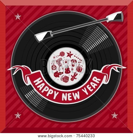 Symbol of the new year plate