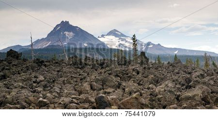 Mckenzie Pass Three Sisters Cascade Range Ancient Lava Field