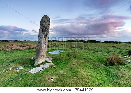 Standing Stone On Bodmin Moor