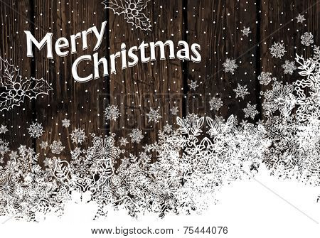Vintage Christmas Greeting card.  Vector illustration, EPS10.