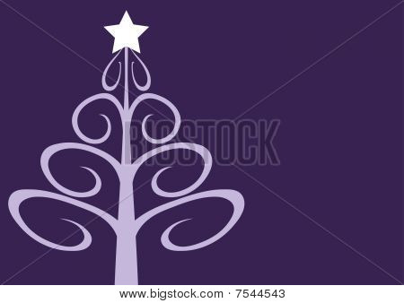 Contemporary christmas tree on mauve