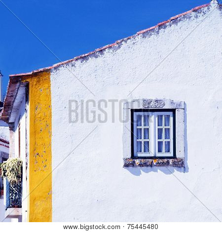 Old White House And Window(Portugal)