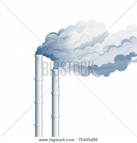 Industrial Chimney Smoke