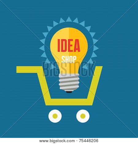 Creative idea in light bulb shape in basket