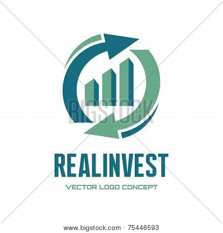 Real Invest - vector logo concept