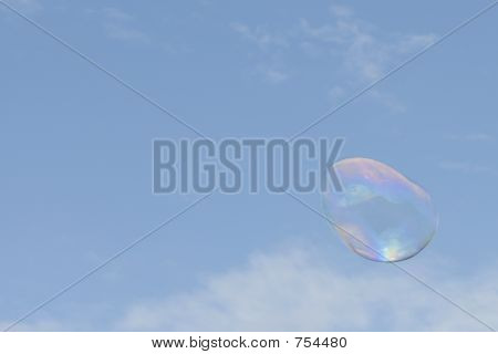 Large soap bubble