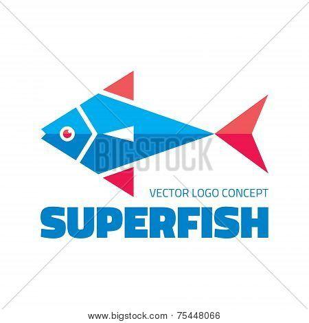 Superfish - vector logo concept