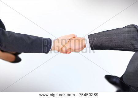 Handshake of the two businessmen