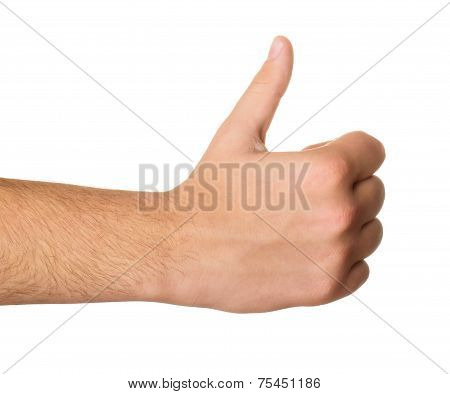 Men's Hand Make Thumbs Up