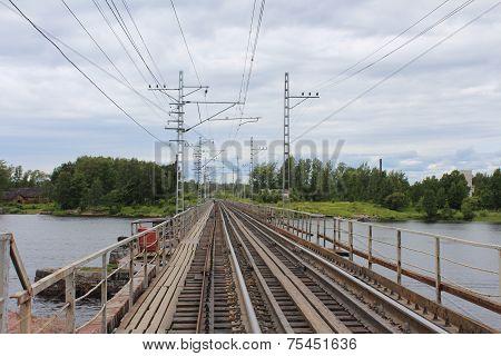 Railway bridge in Vyborg.