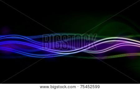 illustration of  abstract background with blurred  neon light