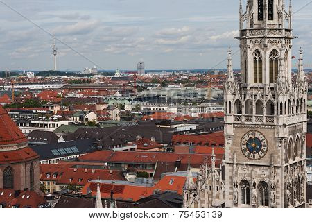 Munich, Germany skyline at City Hall