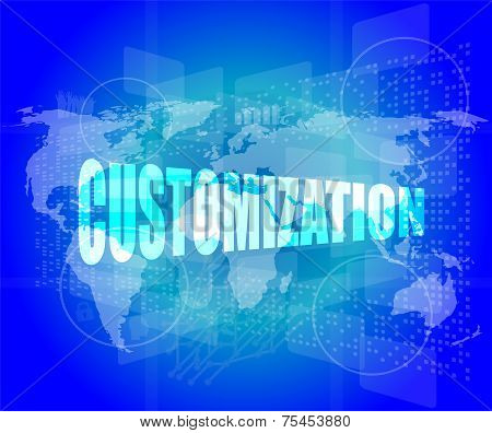 Customization Word On Digital Binary Touch Screen