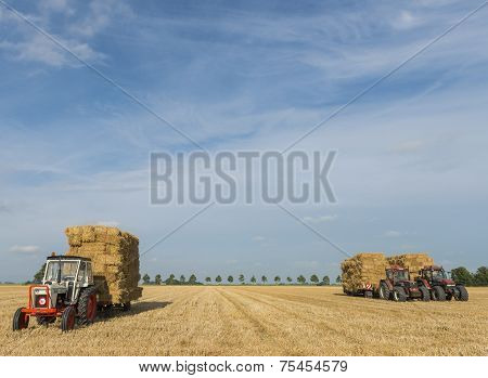 Three Tractors