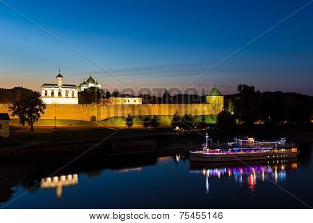 Velikiy Novgorod, Russia - September 20: Kremlin Town Fortress With St. Sophia Cathedral On Septembe
