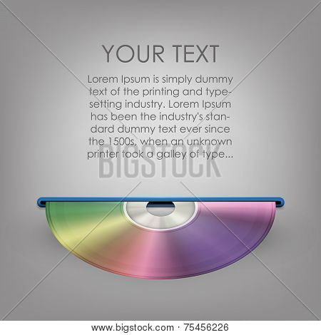 Blue-ray, DVD or CD disc with background