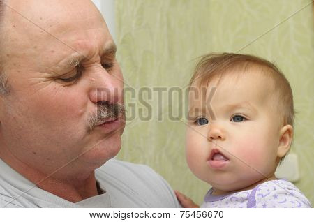Grandfather And Grandchild