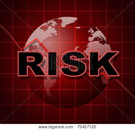 Risk Graph Shows Infochart Beware And Risky