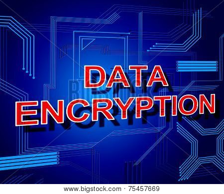 Data Encryption Sign Represents Www Keyboard And Bytes