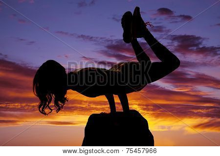 Silhouette Of Woman On Arms