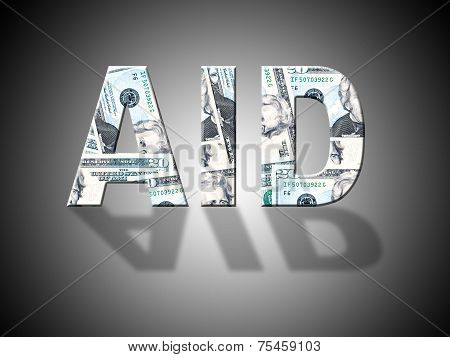 Aid Dollars Represents Answer Cash And Volunteer