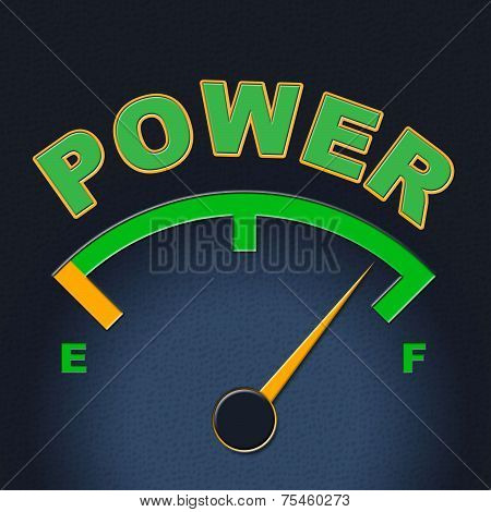 Power Gauge Means Meter Might And Display